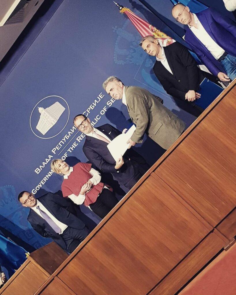 Dodela Rešenja o odobrenju Vlada Republike Srbije - klijent Mago Mihajlo 23.10.2018.